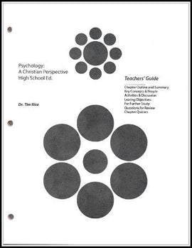 Psychology: A Christian Perspective, Teachers' Guide