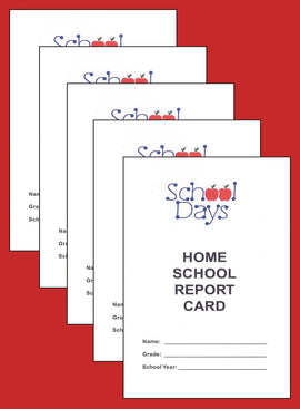 Home School Report Card for Grades 1-8, Pack of 5