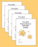 Home School Report Card for Pre-K/K  - Pack of 5