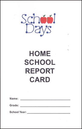 Home School Report Card for Grades 1-8