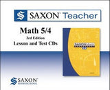 Saxon Teacher for Math 54 - Third Edition on CD-ROM