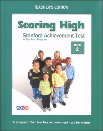Scoring High on the Standard Achievement Test (SAT/10) Grade 2 Teacher's Edition
