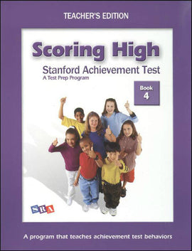 Scoring High on the Standard Achievement Test (SAT/10) Grade 4 Teacher's Edition