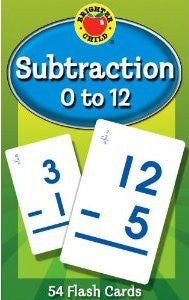 Subtraction Flash Cards ( 0 - 12 )