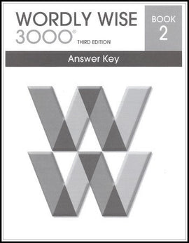 Wordly Wise 3000 Answer Key Grade 2, 3rd Edition