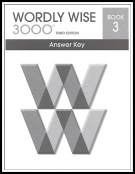 Wordly Wise 3000 Answer Key Grade 3, 3rd Edition