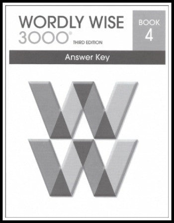 Wordly Wise 3000 Answer Key Grade 4, 3rd Edition