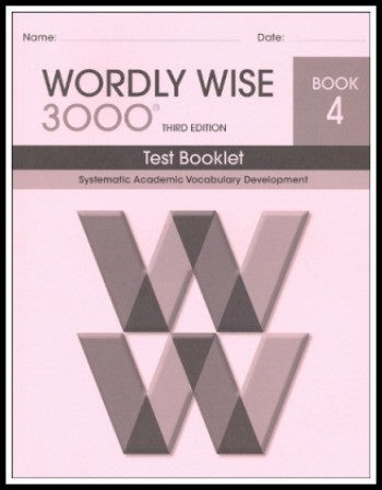 Wordly Wise 3000 Test Grade 4, 3rd Edition