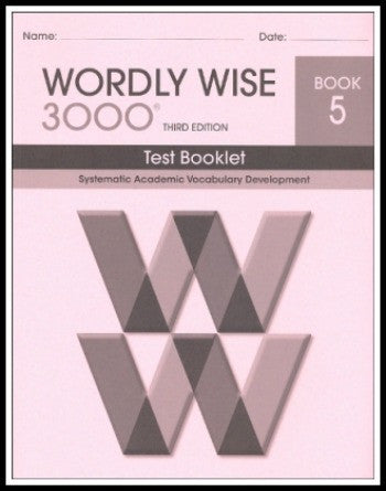 Wordly Wise 3000 Test Grade 5, 3rd Edition