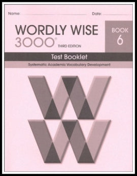 Wordly Wise 3000 Test Grade 6, 3rd Edition