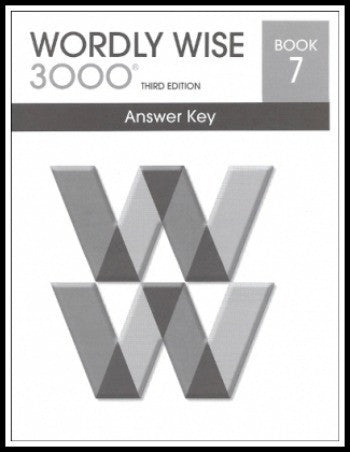 Wordly Wise 3000 Answer Key Grade 7, 3rd Edition