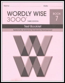 Wordly Wise 3000 Test Grade 7, 3rd Edition