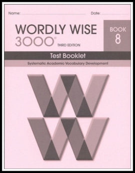 Wordly Wise 3000 Test Grade 8, 3rd Edition