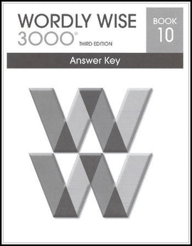 Wordly Wise 3000 Answer Key Grade 10, 3rd Edition