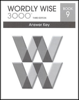 Wordly Wise 3000 Answer Key Grade 9, 3rd Edition