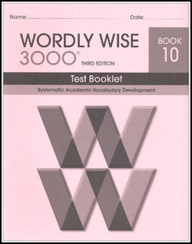 Wordly Wise 3000 Test Grade 10, 3rd Edition