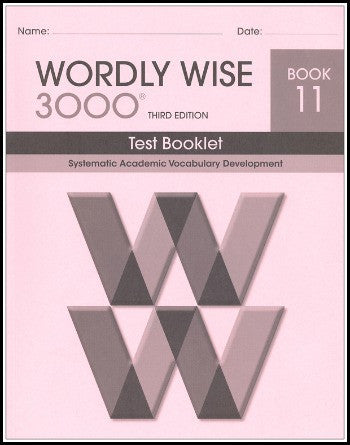 Wordly Wise 3000 Test Grade 11, 3rd Edition