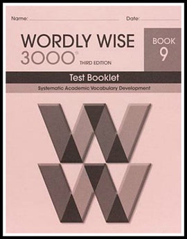 Wordly Wise 3000 Test Grade 9, 3rd Edition