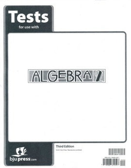 BJU Press Algebra 2 Tests (tests only; 3rd ed.)