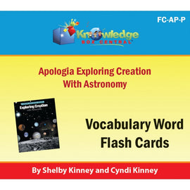 Exploring Creation with Astronomy Vocabulary Flash Cards E-Book