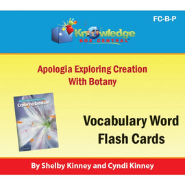 Exploring Creation with Botany Vocabulary Flash Cards E-Book
