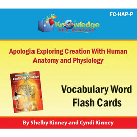 Exploring Creation with Human Anatomy & Physiology Vocabulary Flash Cards E-Book