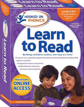 Hooked on Phonics Learn to Read - Kindergarten Set (Levels 3 & 4)