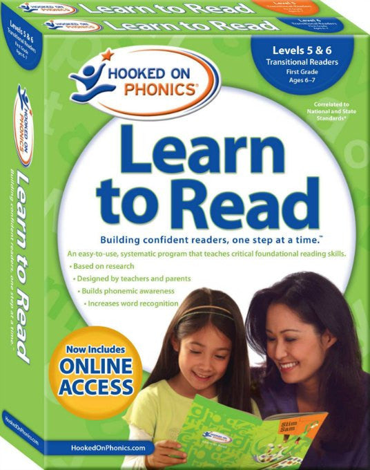 Hooked on Phonics Learn to Read - First Grade Set (Levels 5 & 6)