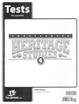 BJU Press Heritage Studies 4 Tests (tests only), 3rd Ed.