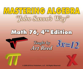 Mastering Algebra - Math 76, 4th Edition Online Tutorial Subscription