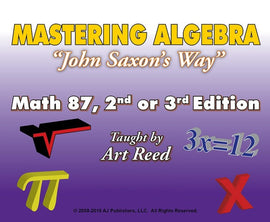 Mastering Algebra - Math 87, 2nd or 3rd Edition Online Tutorial Subscription