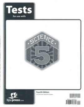 BJU Press Science 5 <br> Tests, 4th Edition