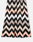SALORA™ Chevron Print Maxi Dress