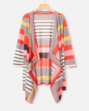 SALORA™ Striped Blanket Cardigan