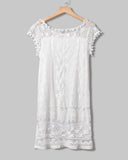 SALORA™ Summer Lace Mini Dress