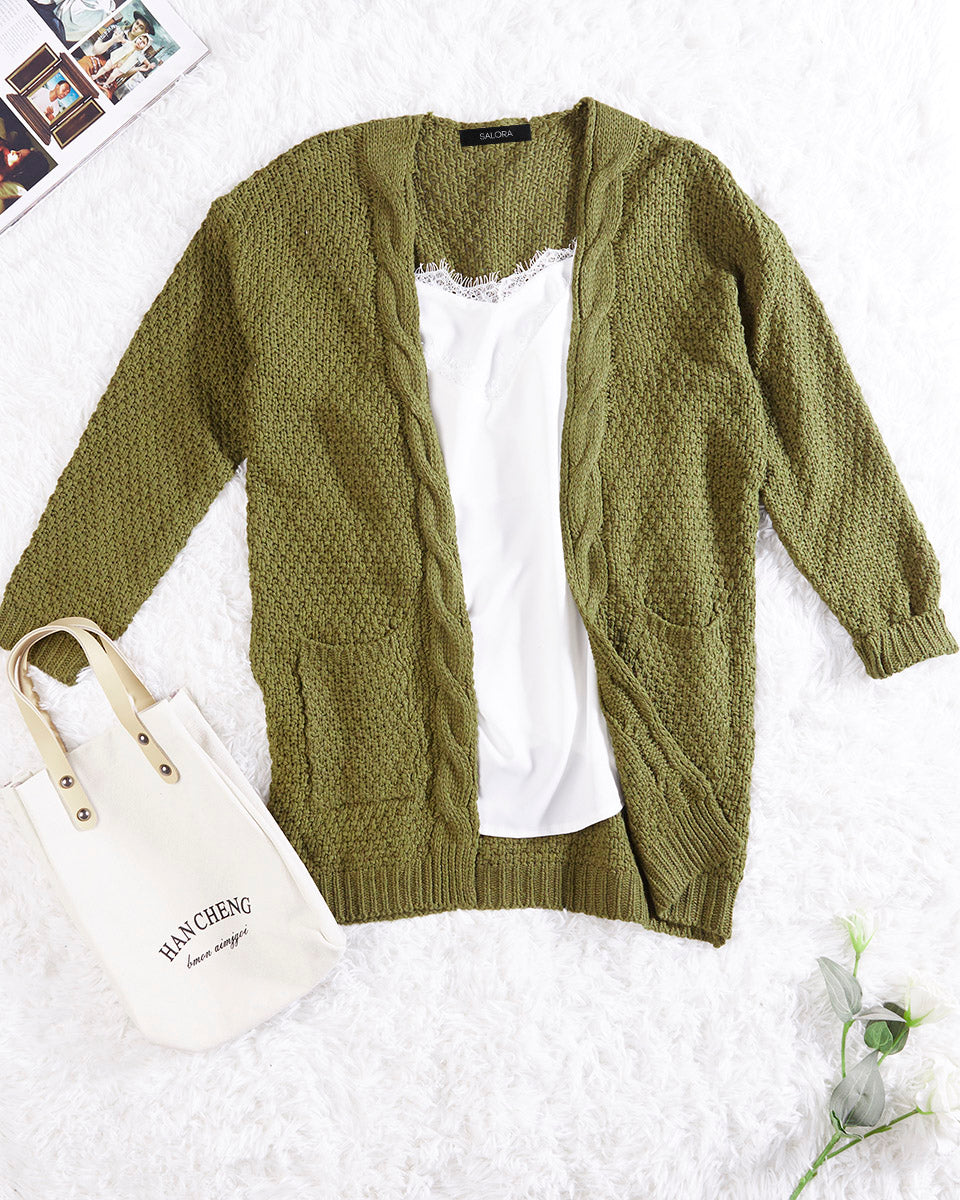 SALORA™ Chunky Knit Cardigan