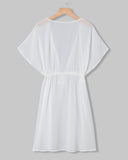 SALORA™ V Neck Chiffon Beach Cover-Up