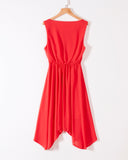 SALORA™ Chiffon Waterfall Dress