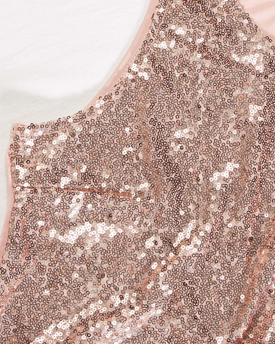 SALORA™ Embellished Sequin Tank Top
