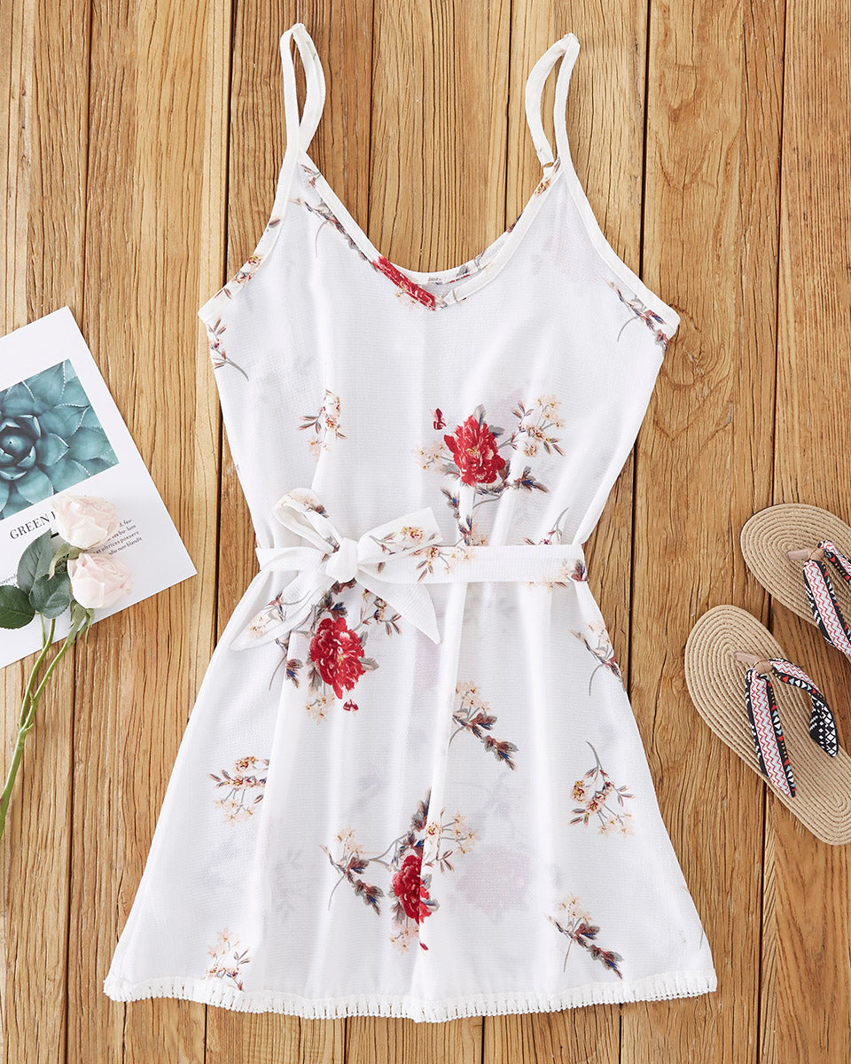 SALORA™ Floral Print Summer Mini Dress