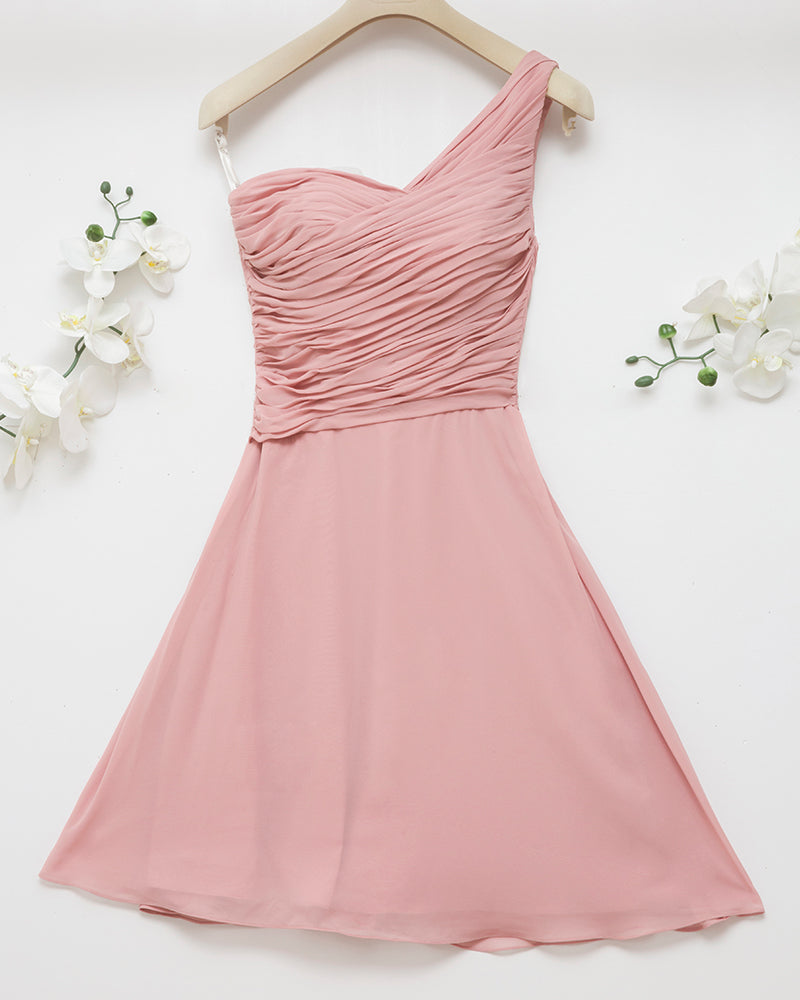 Ballerina One-Shoulder Skater Dress