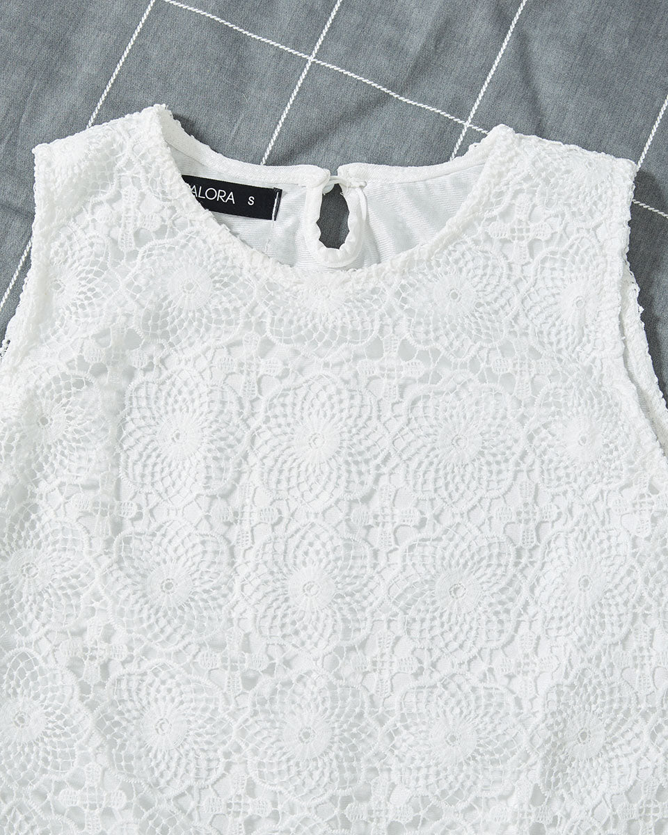 SALORA™ Lace Tank Top