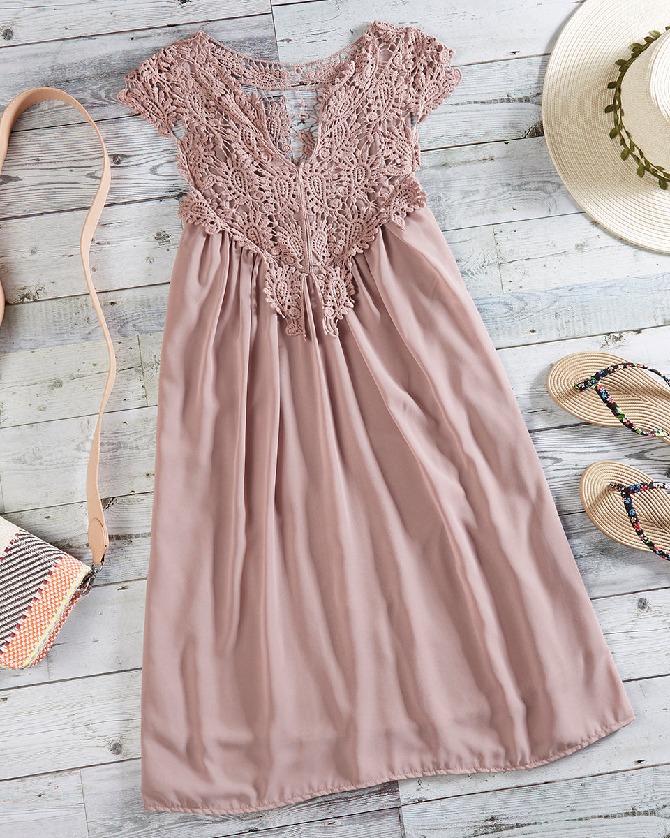 SALORA™ Lace Beach Dress