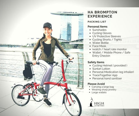 Brompton Experiences Packing List