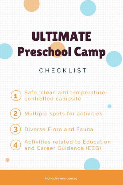 Preschool Camp Checklist