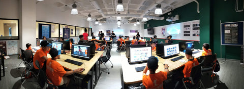 Tertiary Immersion Program students panorama computer lab video making micro bit programming