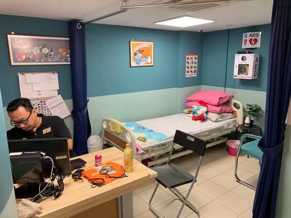 Fully equipped sick bay in KidZania Academy