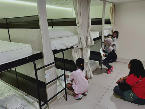 Beds at High Achievers Adventure Academy are 1 metre off the ground