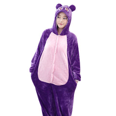 Purple Cat Onesie - Animal Pajama