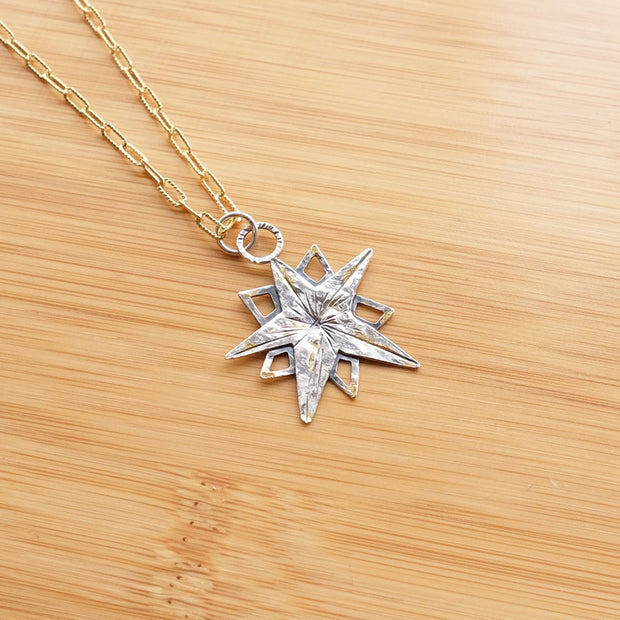 Gold & Silver Guiding Star Necklace